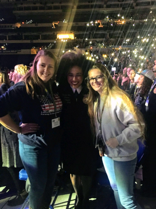 Emily and Cassie with the national FFA president