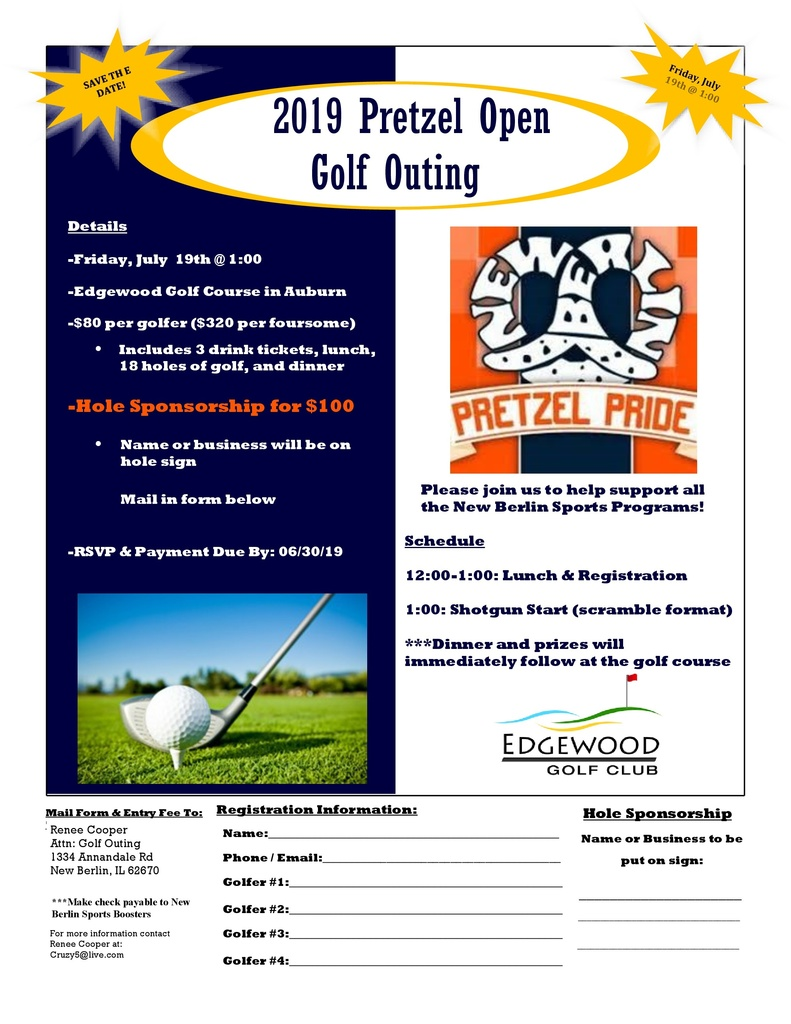 2019 Pretzel Open flyer