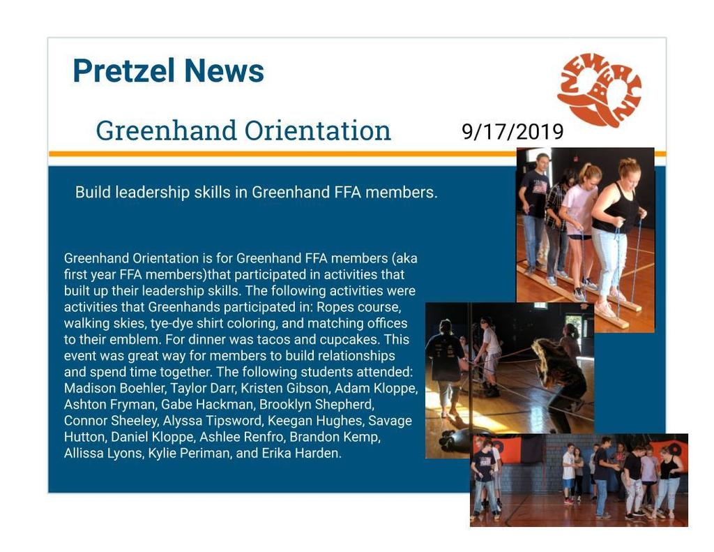 Greenhand Orientation