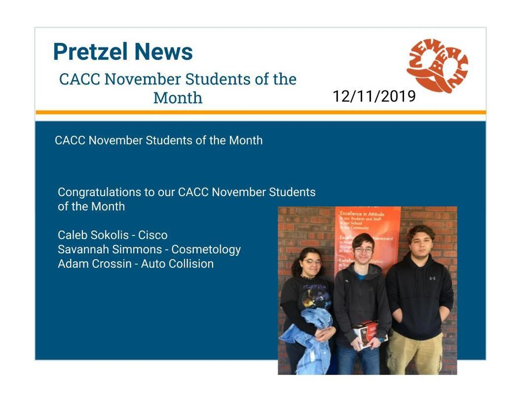 Nov Students of Month CACC