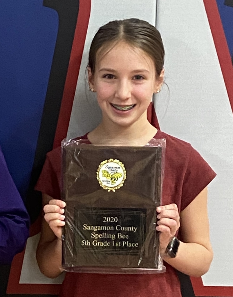 Callie Wagner 2020 Sangamon County Spelling Bee Champion!